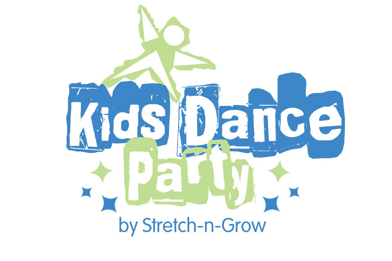 Large Kids Dance Party Logo